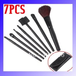 Wholesale 7 Makeup Brush Cosmetic Brushes Set with Case Dropshipping