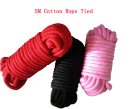 Wholesale SM bondage with sex toys cotton rope tied rope tied flirting special restraint lashing