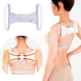 Wholesale New Arrivals Health Adjustable Back Lumbar Support Brace Belt Posture Shoulder Corrector Strap T189
