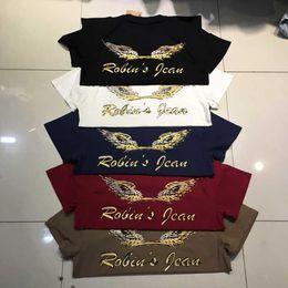 Wholesale 2016 DHL FREE new high Quality robin jeans men tshirt Cotton robin men t shirt tee hip hop men short sleeve shirt us size m xxxl