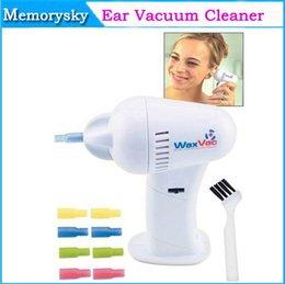 Wholesale 2015 Fashion Waxvac Electronic Ear Vacuum Cleaner Painless Ear Cleaner for Cleaning and Drying Ears No Damage to Ear Drums