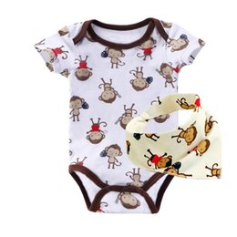 Wholesale NEW Baby Clothing Set Cotton Active Cut Boy Girls Clothes Newborn Pants Baby Romper Socks Baby Bibs Clothes ST04