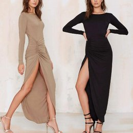 Discount Fitted Maxi Dress Split | 2017 Fitted Maxi Dress Split on ...