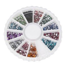 Wholesale 59245New fashion nail art rhinestone wheel mm beautiful shiny nail stickers