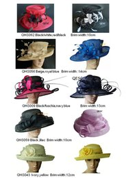 Wholesale Large Brim Sinamay Hat for Kentucky Derby wedding races church formal hat BY EMS