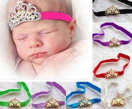 Wholesale Beautiful Pearl crown Hair Accessories baby girl headband girl s hair band head band kids hair accessories