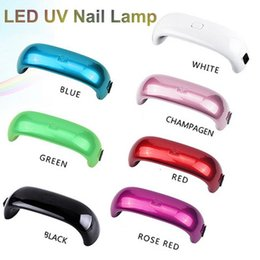 Wholesale Mini LED Nail Lamp W LED UV Nail Lamp Nail Dryers USB Electric Curing Lamp Machine Seconds Fast Dry
