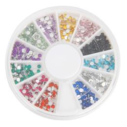 Wholesale Colors mm CRYSTAL Nail ART Acrylic Glitter RHINESTONE Nail Art Decorations