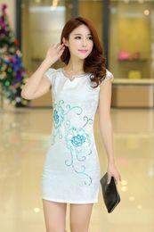 Wholesale 2015 new fashion traditional Chinese Cheongsam jacquard weave cotton sexy Cheongsam Tang suits Chinese Qipao dress