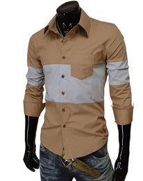Wholesale 2015 Men s British style yellow long sleeved business shirt men s Business shrit mens polo t shirt celebrity shirt free dropship