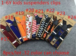 Wholesale 2 x65cm Kids Suspenders color can choose Children Boys Girls Elastic Braces Y back Suspenders Dot and stripes size color order