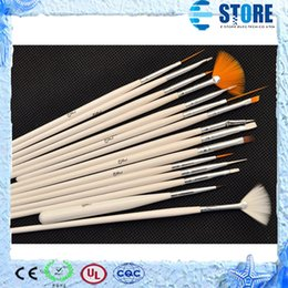 Wholesale 15 Set Nail Art Design acrylic brush UV Gel Set Painting Draw Dotting Pen white Hand wu