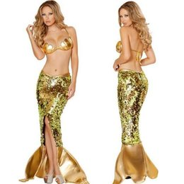 Wholesale Sexy Mermaid Costume eu931 Female mermaid tails cosplay Party halloween costume