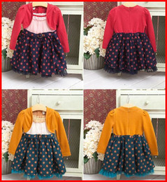 Wholesale Hot Sale Autumn winter spring Baby Girls long sleeve dress children dot dress tutu skirt colors choose free ship T pc melee