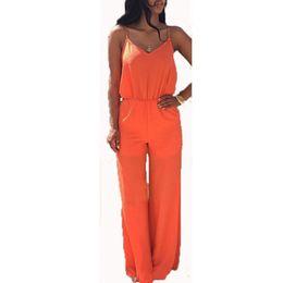 Orange Chiffon Jumpsuit Online | Orange Chiffon Jumpsuit for Sale