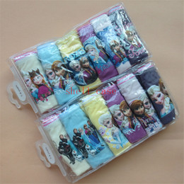 Wholesale Christmas Frozen Children Underwear Brief Panties packs Kids Boys Girls Pure Color Cotton Briefs to years for Birthday Party Dress