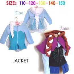 Wholesale Frozen Kids Hooded Coats Comfortable Flannel Autumn Children Zip up Coats for Little Girls Long Sleeve Braid Pattern B3687