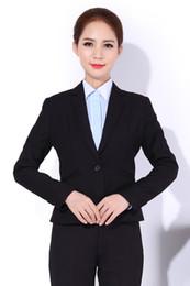 Wholesale 2015 Women Pants Suits Sets Black Female Office One button Uniform Blazer Skinny Women Business Work Office suits