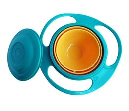 Wholesale New arrival Hot Sale Children Kid Baby Toy Universal Rotate Spill Proof Bowl with box Dishes