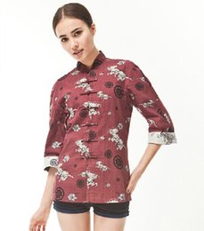 Wholesale luxury high quality Clothing Shirts with chinoiserie cool Traditional Chinese style Husenji