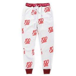 Wholesale Mikeal Novas corredores emoji calça branca preta para as mulheres menina Sweatpant calças roupa dos desenhos animados roupas homens pant
