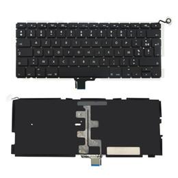 Original Teclado portátil Testado com retroiluminado Francês substituição de layout Para a Apple Unibody MacBook Pro 13,3 A1278 meados de 2009 a meados de 2012