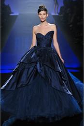 Wholesale Ball Gown Evening Dress Sleeveless Cascading Ruffles Events Formal Europe Women Miss World Strapless Club Night Clothes Evening Dresses