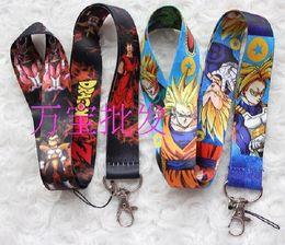 50pcs Dragon Ball Z Anime Lanyard Dragonball Porte-clés ID Badge Protector Porte-clés