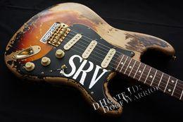 10S Özel Dükkan Sınırlı Üretim Stevie Ray Vaughan Tribute - SRV Sayı Bir No.1 Relic El Yapımı Elektro Gitar