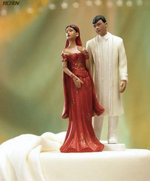 Wholesale In Stock India Arabic cake topper wedding cake toppers decorations Muslim Bridal Couple Figurine Wedding Decorations