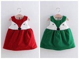 Red velvet baby dress