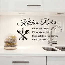Lowest Price Diy Removable Wall Stickers Kitchen Rules Decal Home Accessories Beautiful Pattern Design Decoration
