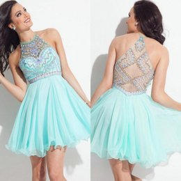 Discount Mint Homecoming Dresses | 2017 Short Mint Homecoming ...