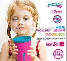 Wholesale WOW CUP children training bottle spill free kids magic cup drink drink Edge