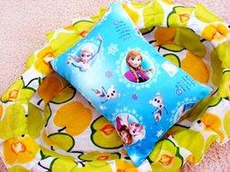 Wholesale Frozen desk nap small car back children small pillow mat cartoon elsa anna princess picture pillows