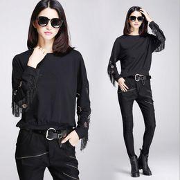 Wholesale Original Design Fashion Gothic Black Casual T shirt Punk Cool cottom Women Girl Shirt T shirts Tops Clothing