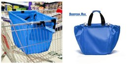Wholesale 2015 Hotsale Larage Shopping Grocery Bag For Supermarket Trolleys Carrier Bag Shopping Bag Reusable Trolleys Folding Shopping Bag