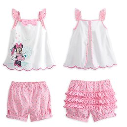 Wholesale 2015 new baby clothes cartoon minnie mouse clothing for girls sets free
