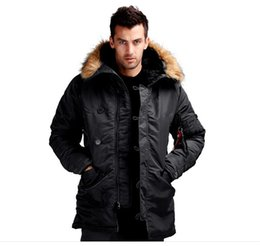 Wholesale New Alpha N3B Military Parka Coats N B Man Winter Coat Three Colors Army Clothing Four Sizes Nylon And Cotton Fabric Solid Color Hot Sale