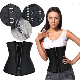 Wholesale Women Latex Rubber Waist Trainers Waist Training Belt Kim Waist Training Belt Underbust Corset Body Shaper Shapewear