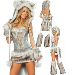 Wholesale Sexy Wolf Costume Gray Sexy Costume Catwomen Costume Halloween Cosplay Costume