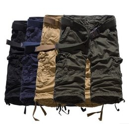 Wholesale mens shorts summer high quality loose casual cargo shorts pure cotton straight short pants men s trousers XN05