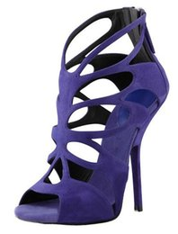 Discount Purple Strappy Heels | 2017 Purple Strappy High Heels on ...