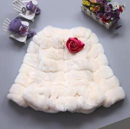 Wholesale 2016 New Winter Girls Baby Fur Coats Leopard Inside Long Sleeve Children Coat Kids Winter Coats