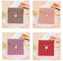 Wholesale Brief Cotton Full Dots Sanitary Napkin Bags Sanitary Towel Storage Bag