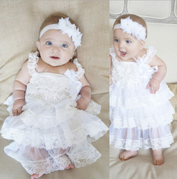 Wholesale baby girl infant toddler lace dress princess flower floral tutu dress zig zag strap cake jumper satin bowknot dress