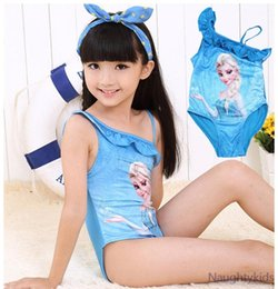 Wholesale NEW one piece Girls Kids Swimsuit frozen elsa Swimwear child Bathing swimsuit Beachwear roupa infantil feminina