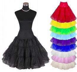 Wholesale NEWEST quot s Retro Underskirt Swing Vintage Petticoat Fancy Net Skirt Rockabilly Tutu Rockabilly Underskirt Petticoat B204
