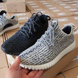 2016 Бесплатная доставка Дешевые Kanye West 350 Повышение пиратских черный горлица Тан Moonrock Оксфорд обувь Мужчины Женщины кроссовки