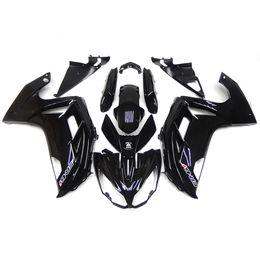 Carenados completos para Kawasaki ER6F ER-6f Ninja 650 12 13 14 Año 2012 2013 2014 ABS Kit de carenado de motocicleta de plástico Brillante Cuerpo Negro Marcos Nuevo